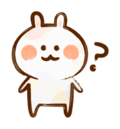 Lovely Rabbit written with brush sticker #1532512