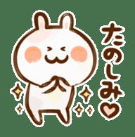 Lovely Rabbit written with brush sticker #1532518