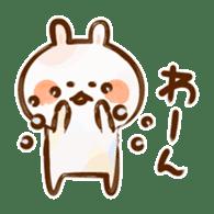 Lovely Rabbit written with brush sticker #1532525