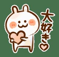 Lovely Rabbit written with brush sticker #1532528