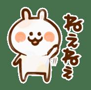 Lovely Rabbit written with brush sticker #1532530