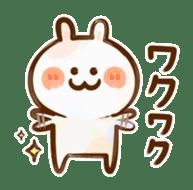Lovely Rabbit written with brush sticker #1532532