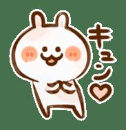 Lovely Rabbit written with brush sticker #1532533