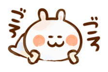 Lovely Rabbit written with brush sticker #1532535