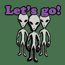 Grey Alien Family(English Ver.) sticker #1539896