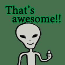 Grey Alien Family(English Ver.) sticker #1539905