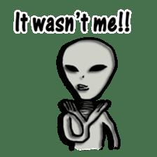 Grey Alien Family(English Ver.) sticker #1539915