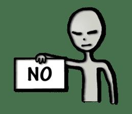 Grey Alien Family(English Ver.) sticker #1539927