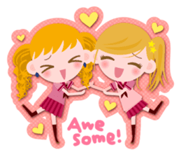 High school girls Sticker 2 sticker #1541056