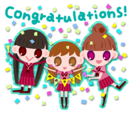 High school girls Sticker 2 sticker #1541060
