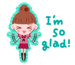 High school girls Sticker 2 sticker #1541061
