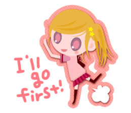 High school girls Sticker 2 sticker #1541066