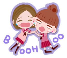 High school girls Sticker 2 sticker #1541070