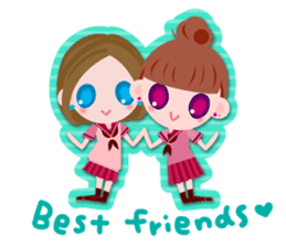 High school girls Sticker 2 sticker #1541071
