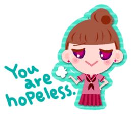 High school girls Sticker 2 sticker #1541074