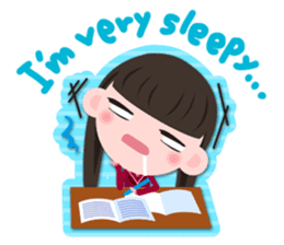 High school girls Sticker 2 sticker #1541077