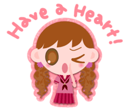 High school girls Sticker 2 sticker #1541086