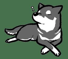 black shiba inu sticker english version sticker #1542188
