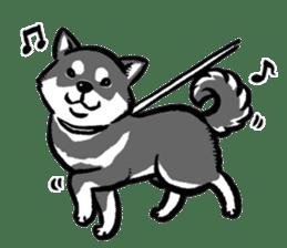 black shiba inu sticker english version sticker #1542191