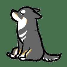 black shiba inu sticker english version sticker #1542199