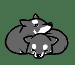black shiba inu sticker english version sticker #1542200