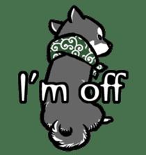 black shiba inu sticker english version sticker #1542203