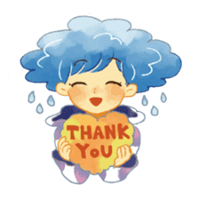 Weather people stamp sticker #1547951