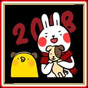 สติ๊กเกอร์ไลน์ Lazy Rabbit & Mr.Chu CNY Stickers