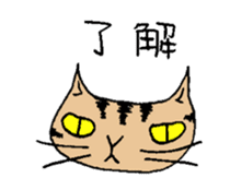 The cat of my home sticker #1550523
