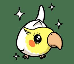 Lutino cockatiels sticker #1551296