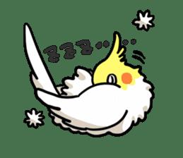 Lutino cockatiels sticker #1551303