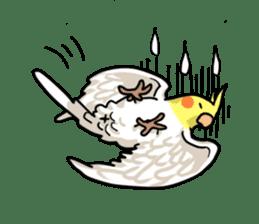 Lutino cockatiels sticker #1551305