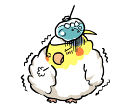 Lutino cockatiels sticker #1551306