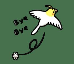 Lutino cockatiels sticker #1551308