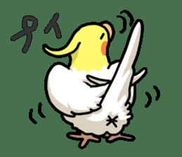 Lutino cockatiels sticker #1551317