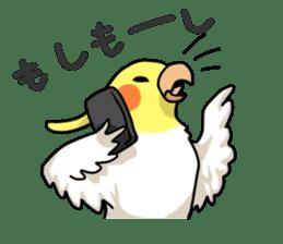 Lutino cockatiels sticker #1551324