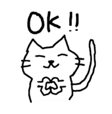 Cat cute and fun sticker #1554615