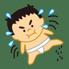Everyday of sumo wrestlers sticker #1558217