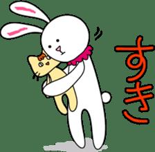 Stuffed rabbit sticker #1561244