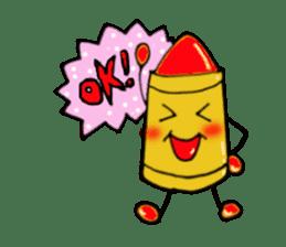 Various crayons. sticker #1561741