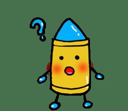 Various crayons. sticker #1561754