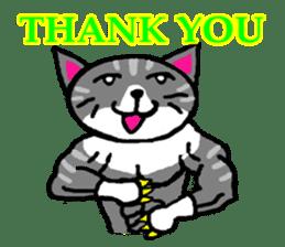 muscle cat revolution English Ver sticker #1564184