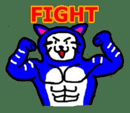 muscle cat revolution English Ver sticker #1564197