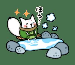 YAMAGUCHI-BEN white fox 2 sticker #1565541