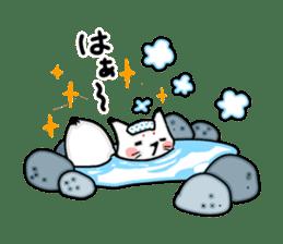 YAMAGUCHI-BEN white fox 2 sticker #1565542
