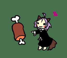 Wolf Girl sticker #1566497