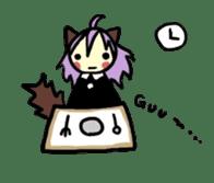 Wolf Girl sticker #1566499