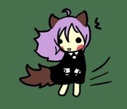 Wolf Girl sticker #1566519