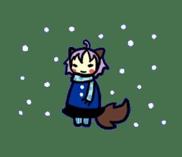 Wolf Girl sticker #1566530
