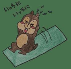 Diet of the squirrel sticker #1567180